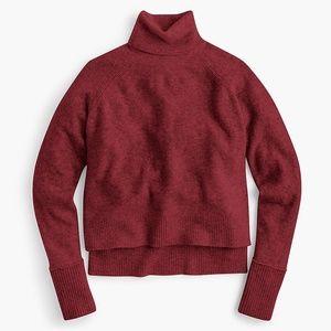 J. Crew Turtleneck Sweater - Heather Burgundy, S